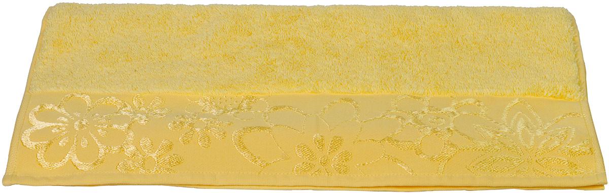 Полотенце Hobby Home Collection Dora, цвет: желтый, 70 х 140 см1501000448Полотенце Hobby Home Collection Dora выполнено из 100% хлопка. Изделие отлично впитывает влагу, быстро сохнет, сохраняет яркость цвета и не теряет форму даже после многократных стирок. Такое полотенце очень практично и неприхотливо в уходе. А простой, но стильный дизайн полотенца позволит ему вписаться даже в классический интерьер ванной комнаты.