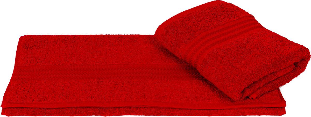 Полотенце махровое Hobby Home Collection Rainbow, цвет: красный, 70х140 см