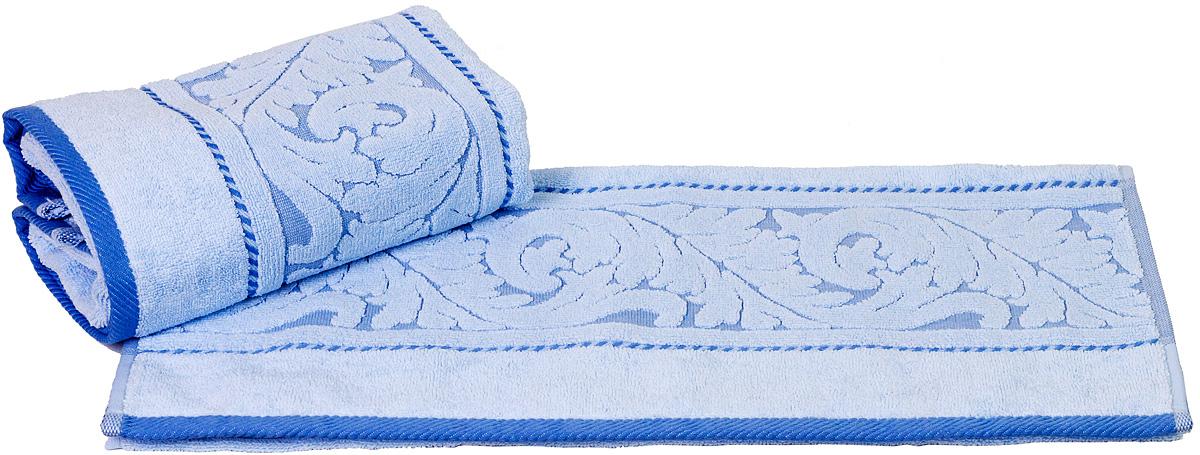 Полотенце Hobby Home Collection Sultan, цвет: голубой, 50 х 90 см1501000585Полотенце Hobby Home Collection Sultan выполнено из 100% хлопка. Изделие отлично впитывает влагу, быстро сохнет, сохраняет яркость цвета и не теряет форму даже после многократных стирок. Такое полотенце очень практично и неприхотливо в уходе. А простой, но стильный дизайн полотенца позволит ему вписаться даже в классический интерьер ванной комнаты.