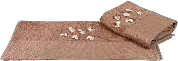 Полотенце махровое Hobby Home Collection Beyra, цвет: коричневый, 50 х 90 см полотенце бамбуковое issimo home valencia цвет розовый 90 x 150 см