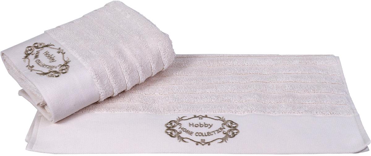 Полотенце Hobby Home Collection Zafira, цвет: кремовый, 50 х 90 см полотенца valentini полотенце aqua цвет кремовый набор