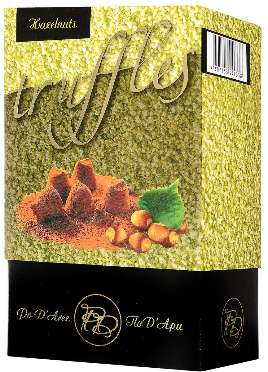 ПодАри Трюфель французский с фундуком набор конфет, 160 г50587638Настоящие трюфели французских шоколатье ПодАри с добавлением фундука доставят вам истинное наслаждение. Уважаемые клиенты! Обращаем ваше внимание, что полный перечень состава продукта представлен на дополнительном изображении.