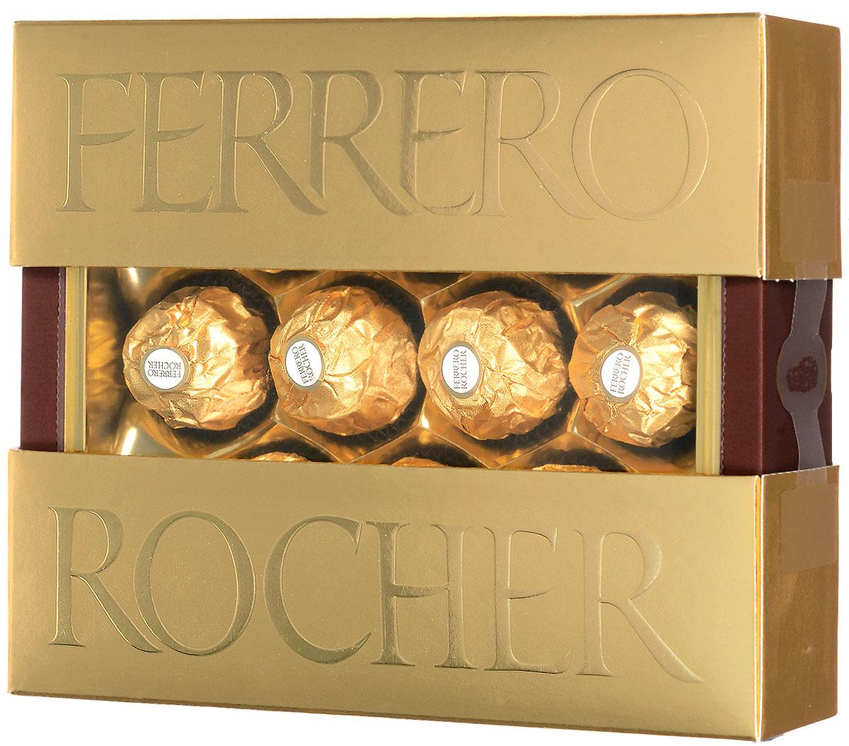 Ferrero Rocher конфеты хрустящие из молочного шоколада, покрытые измельченными орешками, с начинкой из крема и лесного ореха, 125 г77116559/77107191/77099227Ferrero Rocher - это отборный цельный лесной орех в окружении молочного шоколада и нежного орехового крема, заключенные в хрустящую вафельную оболочку, покрытую шоколадно-ореховой крошкой.Уважаемые клиенты! Обращаем ваше внимание, что полный перечень состава продукта представлен на дополнительном изображении.