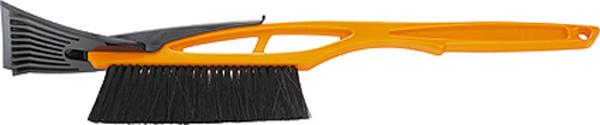 Щетка для снега Sparta, со скребком, длина 55 см552935Щетка Sparta используется для очистки кузова автомобиля от снега и льда. Изделие обладает щетиной средней жесткости. Рукоятка выполнена из ударопрочного пластика и оснащена на одном конце резиновым скребком для льда.