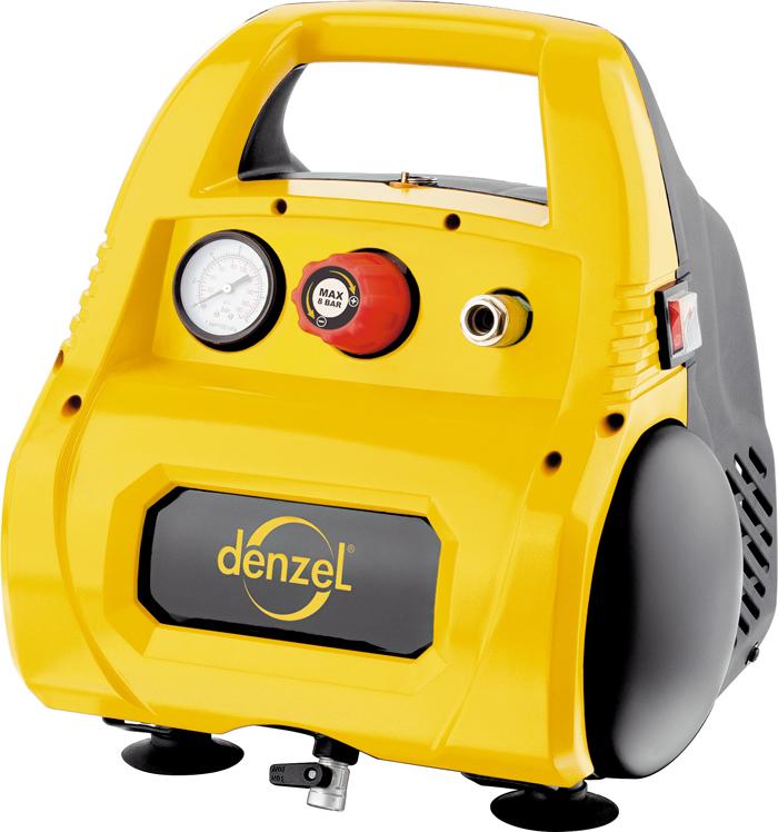 Автомобильный компрессор Denzel, воздушный, безмасляный РС 1/6-180, 1,1 кВт, 180 л/мин, 6 л58057Компрессор пневматический торговой марки DENZEL предназначен для обеспечения сжатым атмосферным воздухом оборудования, аппаратуры и инструмента, применяемого в бытовых целях. Использование компрессора позволяет значительно сэкономить электроэнергию, а также повысить эффективность работы. Компрессор способен производить 180 л/мин сжатого до 8 атм. воздуха, который нагнетается в ресивер общим объемом 6 л. Для работы аппарата необходимо переменное напряжение 220 Вольт и частотой 50 Гц. Компрессор снабжен следующими средствами контроля, управления и защиты: манометром для контроля давления сжатого воздуха; реле давления, осуществляющим запуск/остановку в зависимости от настроек; защитным клапаном; автозапуск при понижении давления в ресивере ниже 6 атм.
