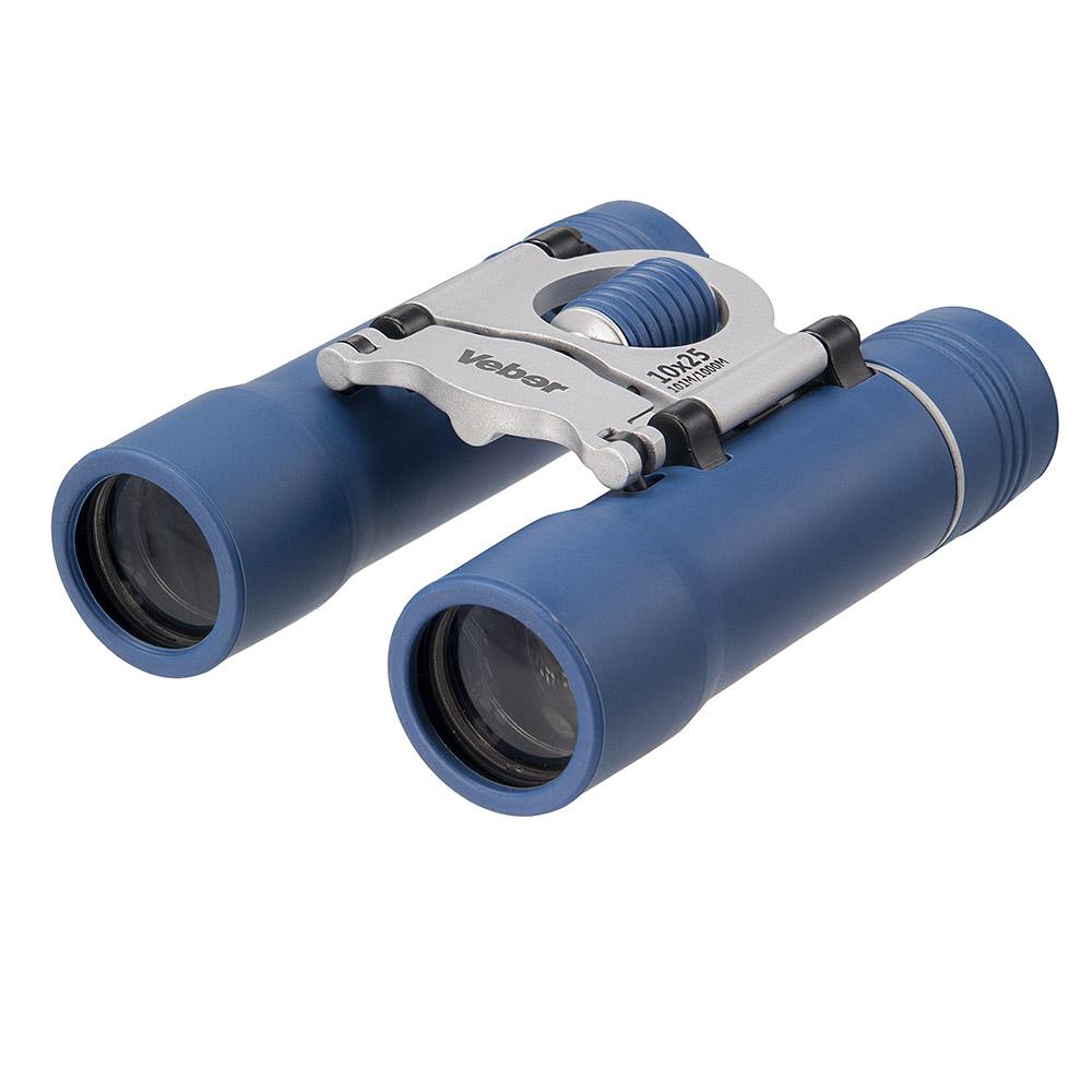 Бинокль Veber Sport, цвет: синий, БН 10x25 NEW бинокль бпц6 8х30 обрезиненный рубиновое покрытие