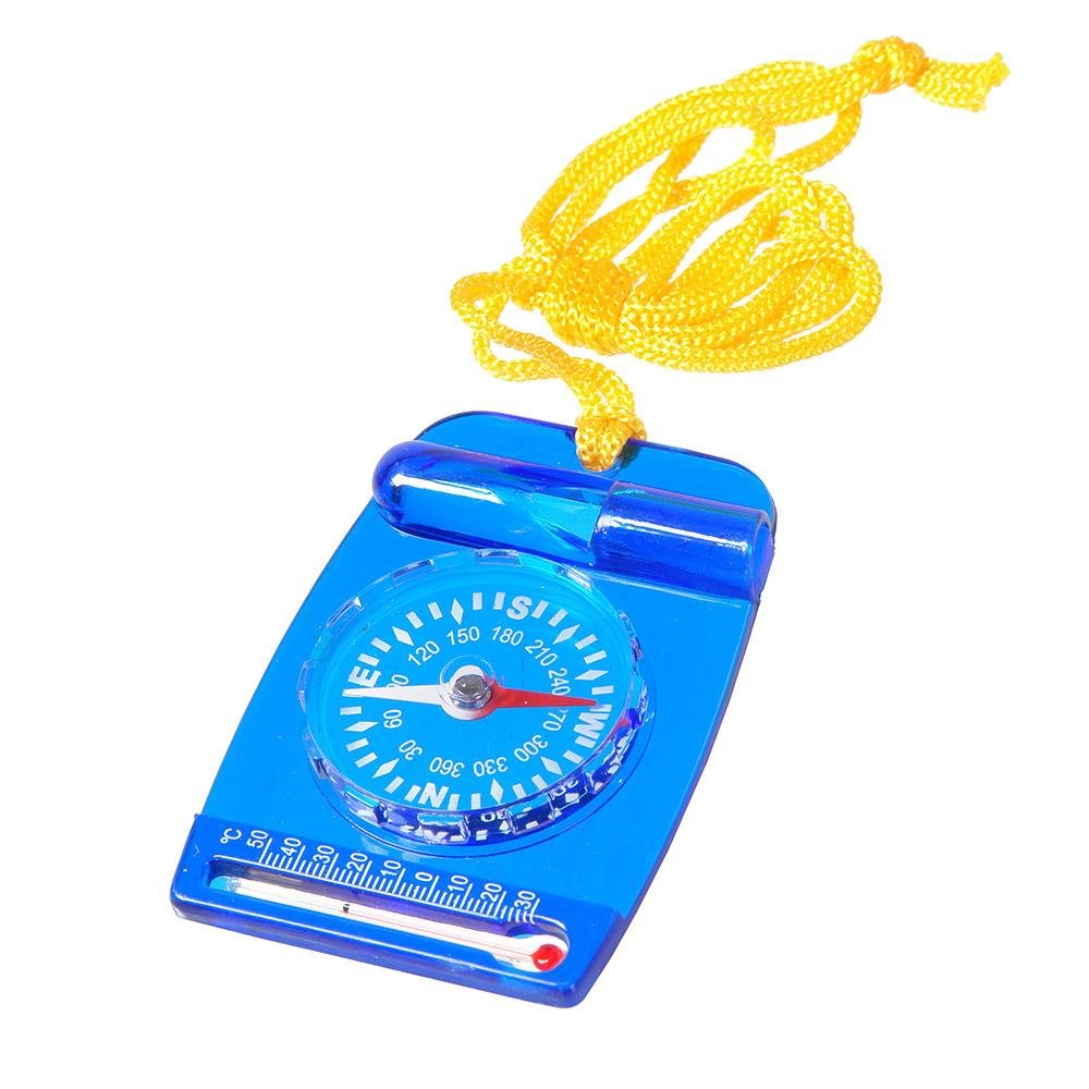 Компас Veber, цвет: синий, DC35-211141Компас со встроенным свистком и термометром, на шнурке.ОПИСАНИЕ Компас состоит из пластмассового планшета со встроенным свистком и термометром, на планшете неподвижно закреплена круглая капсула. Внутри капсулы находится магнитная стрелка, на дне капсулы находится шкала азимута и индексы N, S, E, W (N-север, S-юг, E-восток, W-запад) ХарактеристикиЦена деления шкалы азимута 10° Длительность успокоения магнитной стрелки не более 5 с. Диапазон рабочих температур от -20С до + 30С Материал корпуса пластик Габаритные размеры 47х67х9 мм Вес 25 г