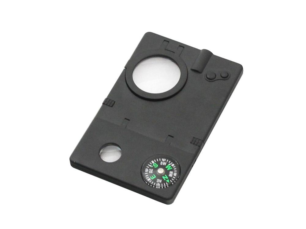 Набор Veber 8 в 1, цвет: черный22687Набор 8 в 1. В набор входит лупа с увеличением 3x, компас, 2 авторучки (одна с невидимыми чернилами), фонарик,УФ-фонарик, лазерная указка, телескоп.ОПИСАНИЕ Многофункциональный набор Veber IT005 8 в 1Многофункциональный набор 8 в 1, включающий: Лупа с увеличением 3x Компас 2 авторучки (одна с невидимыми чернилами) Cветодиодный фонарик УФ фонарик (для невидимых чернил) Лазерная указка Телескоп Батарейки 3хAG10 в комплекте. Технические характеристикиУвеличение, крат 3 Диаметр линзы, мм 25 Материал линзы пластик Материал корпуса пластик Габаритные размеры, мм 90x58x7 Вес, г 29