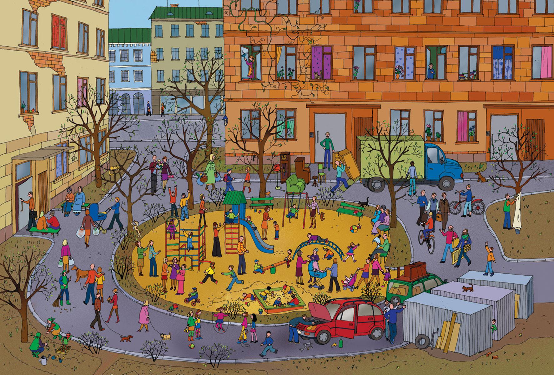 Картинки наш город для детского сада, удачи