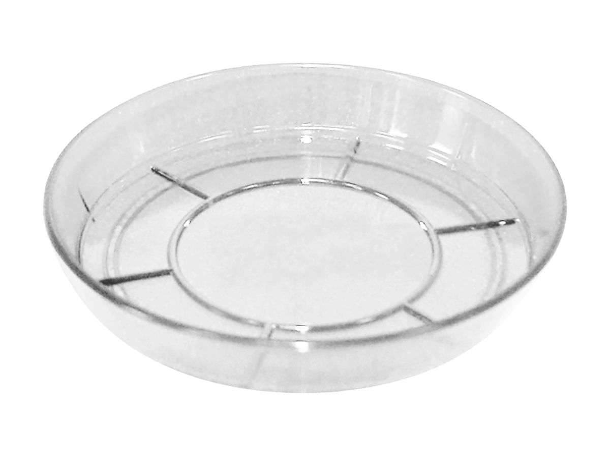Поддон JetPlast Шарм, цвет: прозрачный, диаметр 15 см4612754050246Поддон Шарм изготовлен из высококачественного пластика. Изделие предназначено для стока воды. Диаметр: 15 см.