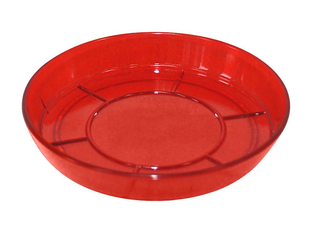 Поддон JetPlast Шарм, цвет: красный, диаметр 15 см4612754050987Поддон Шарм изготовлен из высококачественного пластика. Изделие предназначено для стока воды. Диаметр: 15 см.