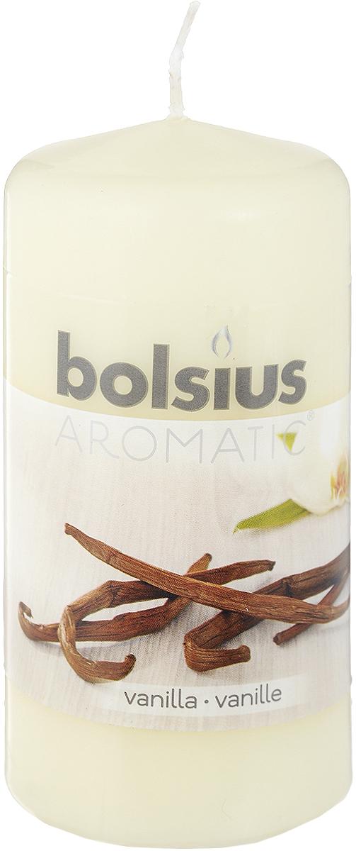 """Свеча ароматическая Bolsius """"Ваниль"""" создаст в доме атмосферу тепла и уюта. Свеча приятно смотрится в интерьере, она безопасна и удобна в использовании. Свеча создаст приятное мерцание, а сладкий манящий аромат окутает вас и подарит приятные ощущения."""