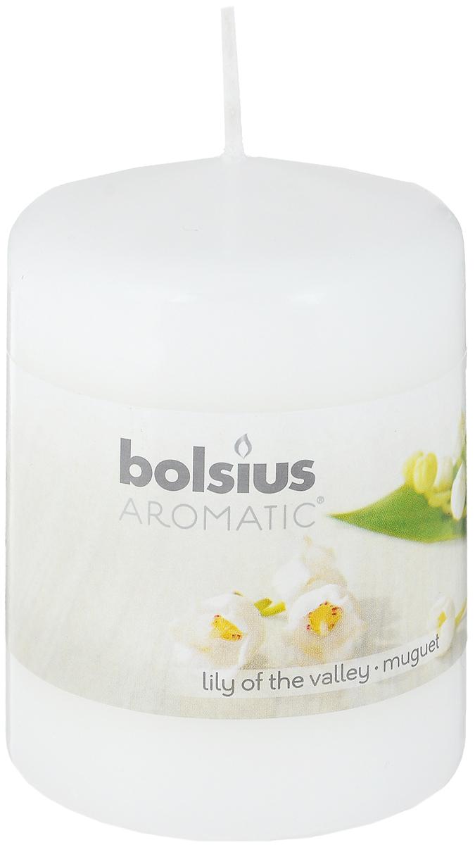 """Свеча ароматическая Bolsius """"Ландыш"""" создаст в доме атмосферу тепла и уюта. Свеча приятно смотрится в интерьере, она безопасна и удобна в использовании. Свеча создаст приятное мерцание, а сладкий манящий аромат окутает вас и подарит приятные ощущения."""