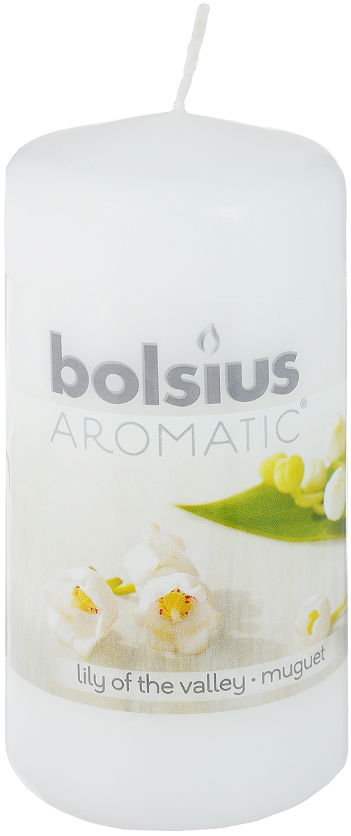 Свеча ароматическая Bolsius Ландыш, 6 х 6 х 11,5 см свеча ароматизированная bolsius магнолия высота 6 3 см