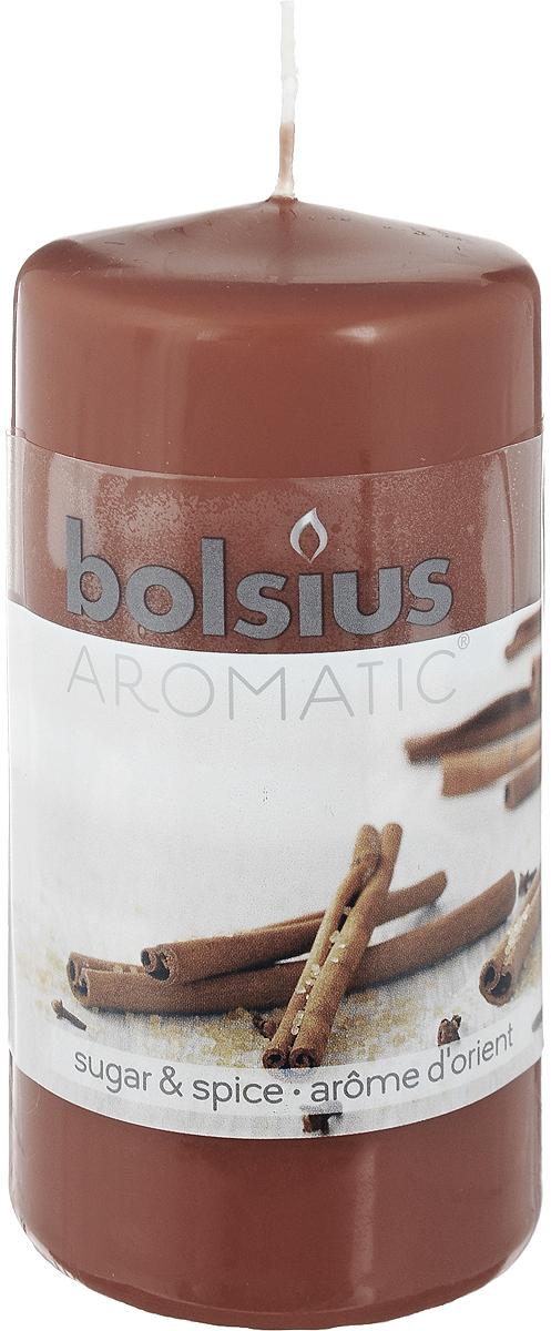 Свеча ароматическая Bolsius Пряность, 6 х 6 х 11,5 см свеча ароматизированная bolsius пряность высота 6 3 см