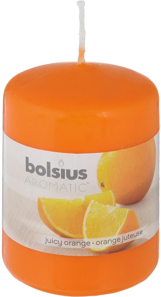 Свеча ароматическая Bolsius Апельсин, 6 х 6 х 7,3 см103626490184Свеча ароматическая Bolsius Апельсин создаст в доме атмосферу тепла и уюта. Свеча приятно смотрится в интерьере, она безопасна и удобна в использовании. Свеча создаст приятное мерцание, а сладкий манящий аромат окутает вас и подарит приятные ощущения.