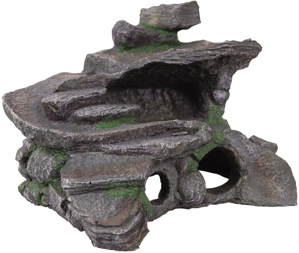 Декорация для аквариума Dezzie Остров, для черепах, 29 х 25 х 20 см игрушка для собак dezzie аппорт 25 5 х 7 см