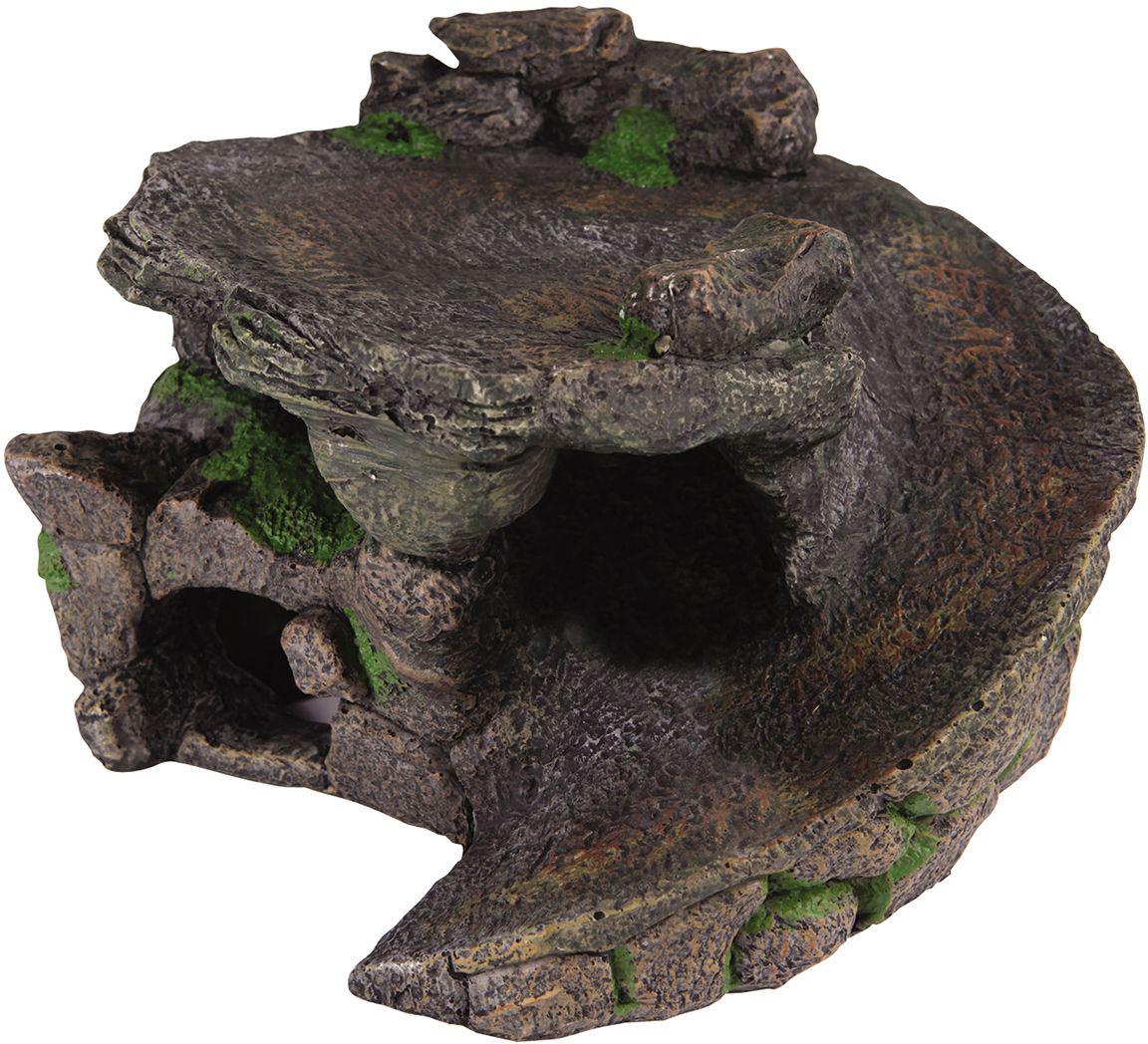 Декорация для аквариума Dezzie Убежище, для черепах, 23 х 22,5 х 14 см игрушка для собак dezzie аппорт 25 5 х 7 см