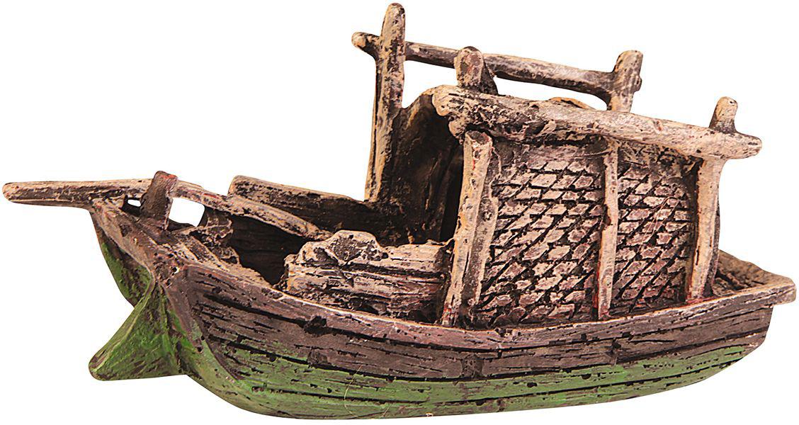 Декорация для аквариума Dezzie Лодка. Краб, 17,2 х 6 х 8,5 см dezzie 5611186 в москве