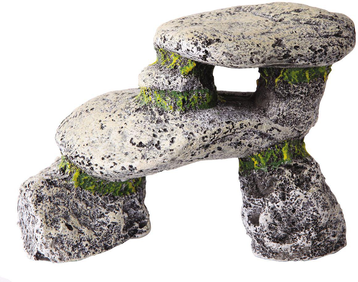 Декорация для аквариума Dezzie Камень. Обзор, 13,5 х 6,5 х 9,5 см5626066Декорация для аквариума Dezzie Камень. Обзор изготовлена из прочных, нетоксичных материалов, ее окраска устойчива ко времени, она не крошатся, да и чистить ее очень легко. Кроме того, ее вес незначителен, что уменьшает нагрузку на стекло аквариума. Если вы содержите рыб из каменистых водоемов, то безусловное требование к их аквариумам - это наличие в них сооружений из камней. Искусственные камни созданы с учетом требований профессиональных аквариумистов, поэтому безопасны даже для самых беспокойных обитателей аквариума.Размер декорации: 13,5 х 6,5 х 9,5 см.