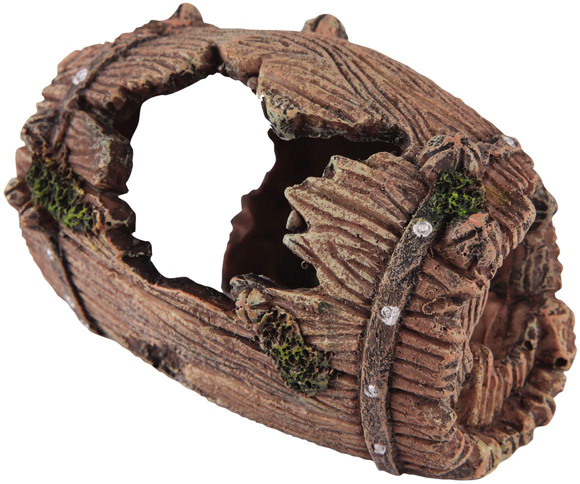 Декорация для аквариума Dezzie Бочка. Винный погреб, 10 х 8 х 8 см