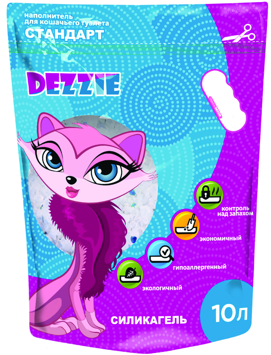 Наполнитель для кошачьего туалета Dezzie  Стандарт , силикагелевый, 10 л