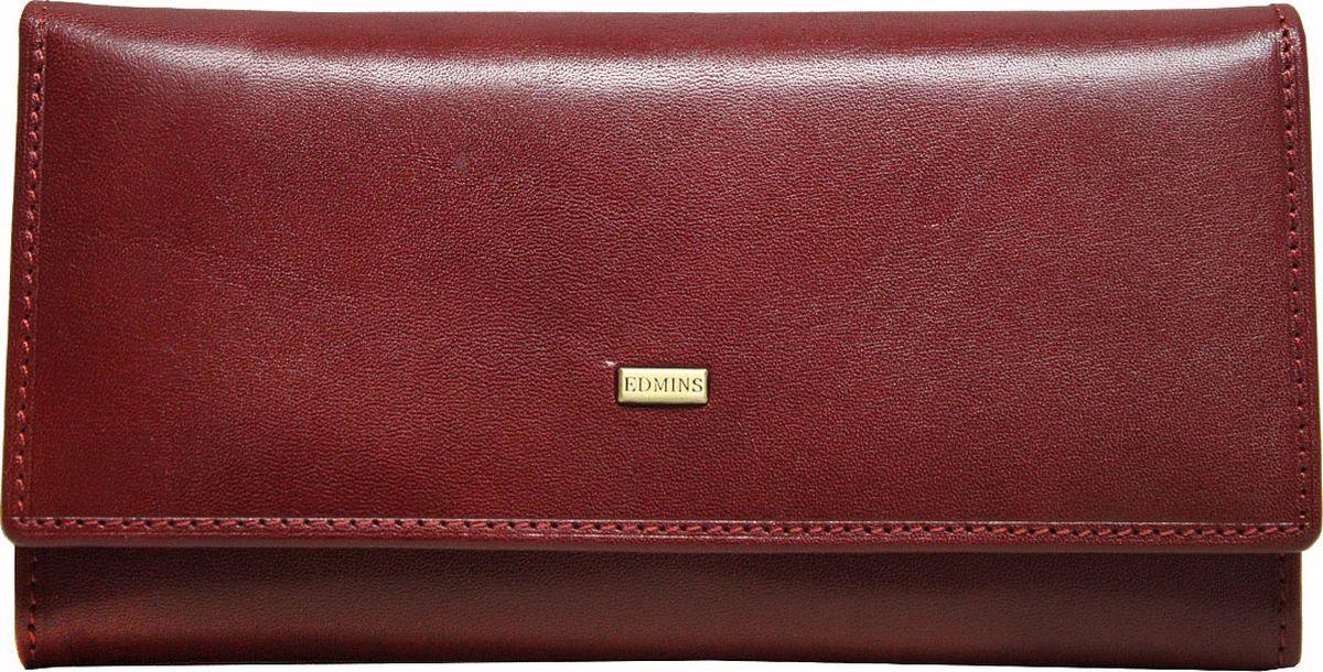 Портмоне женское Edmins, цвет: красный. 2638 ML ED