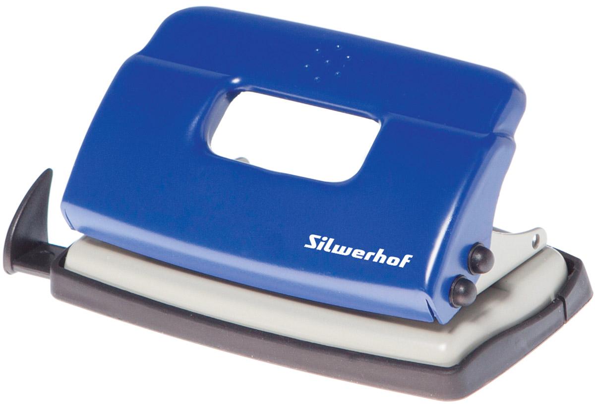 Silwerhof Дырокол Debut на 10 листов цвет синий - Степлеры, дыроколы