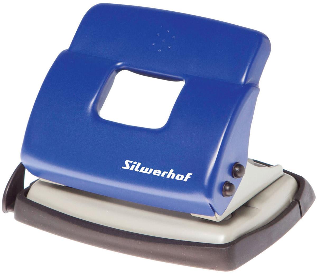 Silwerhof Дырокол Debut на 20 листов цвет синий392030-02Надежный цельнометаллический дырокол Silwerhof Debut - это незаменимый офисный инструмент для перфорации бумаги и картона.Металлический дырокол с нескользящим основанием предназначен для одновременной перфорации до 20 листов бумаги 80г/м. Для удобства он оснащен выдвижной линейкой с разметкой для документов различных форматов, а также имеет съемный резервуар для обрезков бумаги, встроенный в основание.Также у данного атрибута присутствует окно для персонализации и пластиковый поддон для сбора конфетти с функцией частичного открывания.