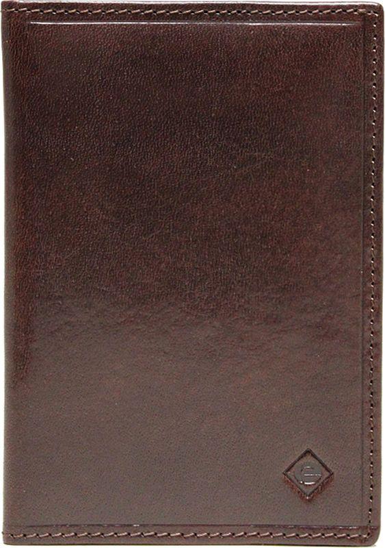 Обложка для паспорта Edmins, цвет: темно-коричневый. 13843 ED ABA зонты edmins зонт