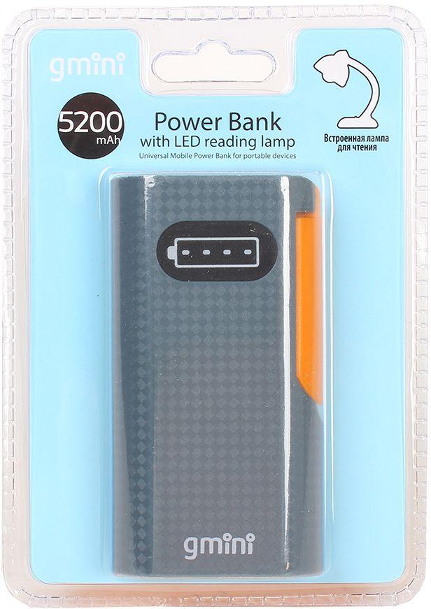 Gmini mPower GM-PB052L внешний аккумулятор (5200 мАч) + встроенная LED-лампаGM-PB052LGmini mPower GM-PB052L - настоящая находка для владельцев смартфонов. Аккумулятор такой маленький и тонкий, что вы просто не почувствуете его в вашем кармане или сумке. Емкости батареи должно хватить на 2 цикла заряда среднестатистического смартфона. По сравнению с обычными литий-ионными, литий-полимерные батареи тоньше, легче и меньше теряют заряд. Наслаждайтесь преимуществами новых технологий!