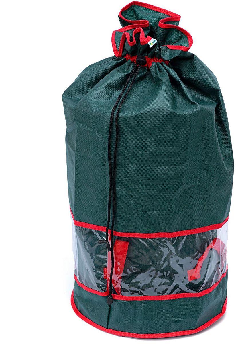 Мешок для хранения вещей Homsu New Year, цвет: зеленый, 35 х 35 х 70 смHOM-739Мешок для хранения вещей Homsu New Year из спанбонда имеет окно из ПВХ, что позволяет видеть содержимое мешка, он также оснащен удобными завязками. Изделие содержит одно вместительное отделение, которое закрывается на застежку-молнию. Выполнен в традиционной новогодней расцветке.
