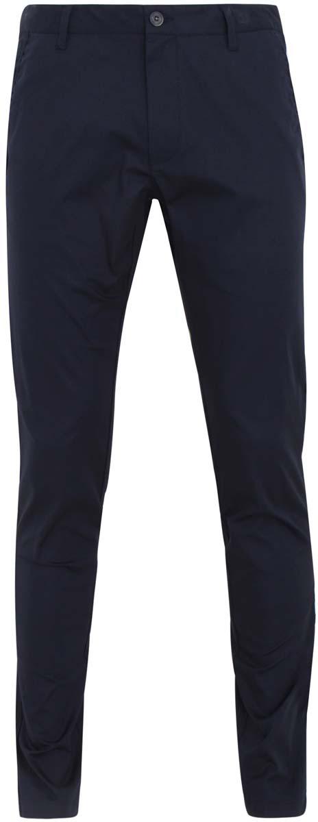 Брюки мужские oodji, цвет: темно-синий. 2L200025M/21117N/7900N. Размер 48-182 (56-182)2L200025M/21117N/7900NКлассические мужские брюки oodji прямого кроя и стандартной посадки изготовлены из хлопка с добавлением эластана. Брюки застегиваются на пуговицу в поясе и ширинку на застежке-молнии. На поясе расположены шлевки для ремня. Модель дополнена двумя открытыми втачными карманами спереди и двумя втачными карманами сзади.
