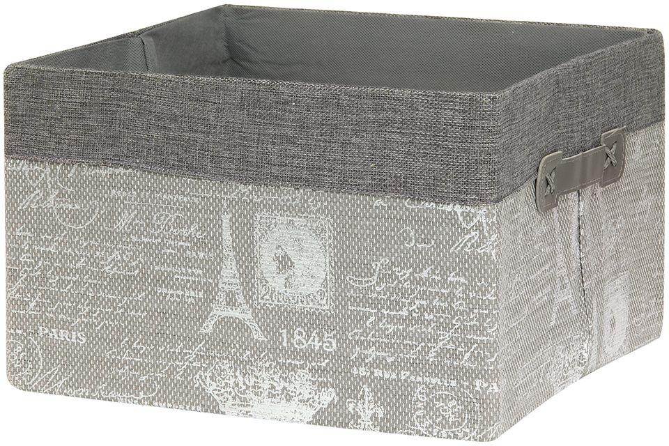 Кофр для хранения EL Casa Париж. Серебро, складной, 30 х 30 х 20 см280033Компактный складной кофр EL Casa Париж. Серебро изготовлен из высококачественного полиэстера, который обеспечивает естественную вентиляцию, позволяя воздуху проникать внутрь, не пропуская пыль. Благодаря специальным вставкам, кофр прекрасно держит форму, а эстетичный дизайн гармонично смотрится в любом интерьере. Легко складывается и раскладывается, имеет ручки для удобства.