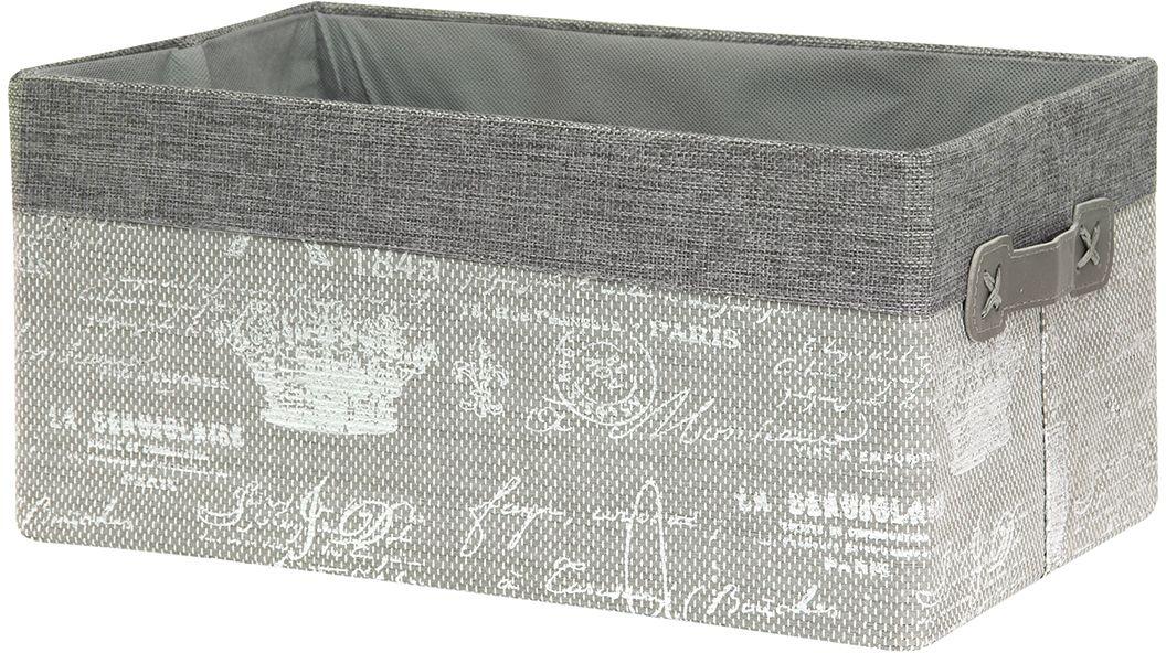Кофр складной для хранения EL Casa Париж серебро, 2 ручки, 35 х 23 х 17 см280045Кофр EL Casa Париж серебро с жестким каркасом для хранения. Благодаря специальным вставкам кофр прекрасно держит форму, а эстетичный дизайн гармонично смотрится в любом интерьере.Легко складывается и раскладывается, имеет ручки для удобства.