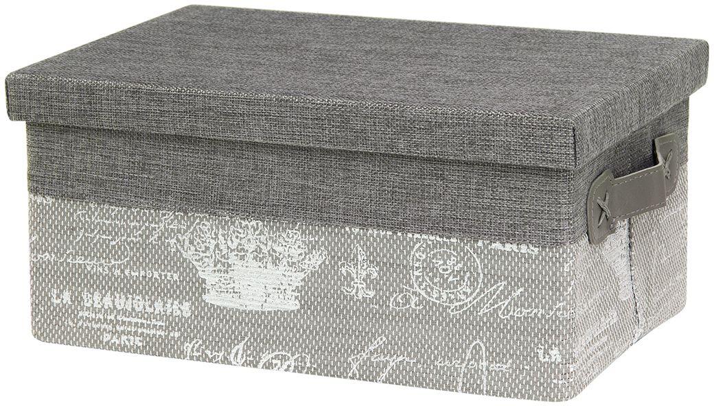 Кофр для хранения EL Casa Париж. Серебро, складной, с крышкой, 30 х 20 х 14 см280049Компактный складной кофр EL Casa Париж. Серебро изготовлен из высококачественного полиэстера, который обеспечивает естественную вентиляцию, позволяя воздуху проникать внутрь, не пропуская пыль. Благодаря специальным вставкам, кофр прекрасно держит форму, а эстетичный дизайн гармонично смотрится в любом интерьере. Легко складывается и раскладывается, имеет ручки для удобства. Также кофр оснащен крышкой, которая защитит от пыли и солнечных лучей.