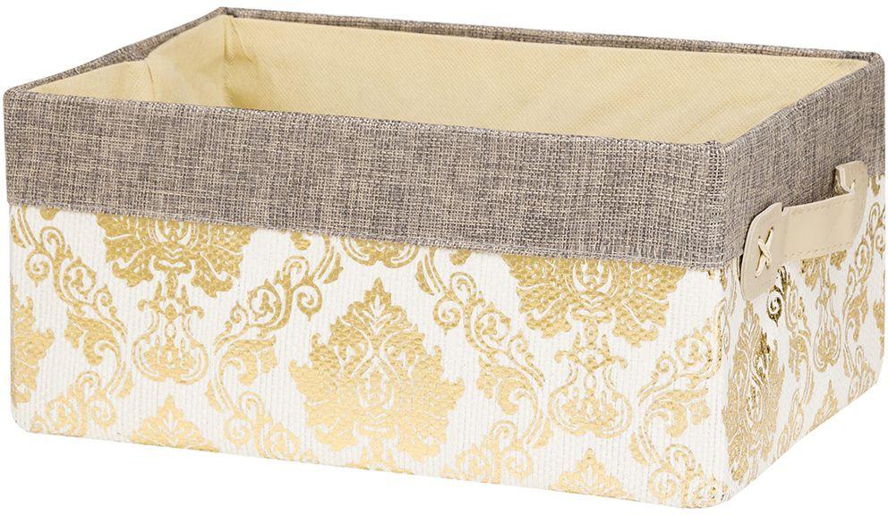 Кофр для хранения EL Casa Золотой узор, складной, 30 х 20 х 14 см кофры el casa кофр складной для хранения геометрия стиля