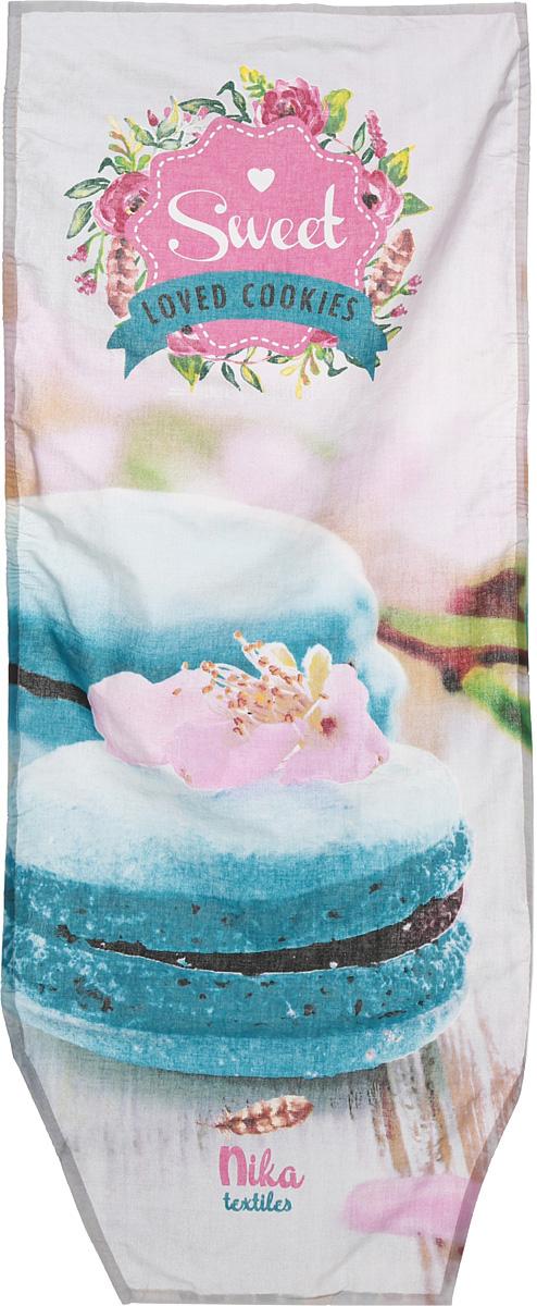 Чехол для гладильной доски Nika Loved Cookies, универсальный, 129 х 51 смЧ2_Loved CookiesЧехол Nika Loved Cookies, выполненный из хлопка, продлит срок службы вашейгладильной доски. Изделие снабжено стягивающимшнуром, при помощи которого вылегко отрегулируете оптимальное натяжение изафиксируете чехол на рабочей поверхности гладильнойдоски. Чехол оформлен красивым рисунком, что оживитвнешний вид вашей гладильной доски.Размер чехла: 129 х 51 см.Максимальный размер доски: 125 х 42 см.