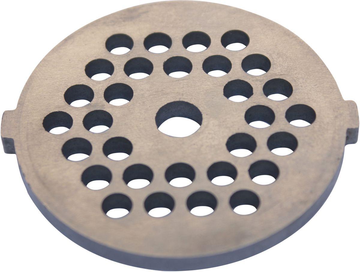 Euro Kitchen EUR-GR-5 Panasonic решетка для мясорубкиEUR-GR-5 PanasonicРешетка Euro Kitchen EUR-GR-5 предназначена для работы с электрическими мясорубками марки Panasonic. Она с легкостью заменит фирменную деталь, не уступив ей по качеству и сроку службы. Высокая производительность и долгий срок службы современных электрических и ручных мясорубок зависят, в первую очередь, от режущих механизмов и их выработки. Своевременная профилактика и замена режущих и вспомогательных элементов способствуют уменьшению нагрузки на узлы и другие механизмы, гарантируя долгую и качественную работу вашей мясорубки. Диаметр отверстий в решетке: 5 мм