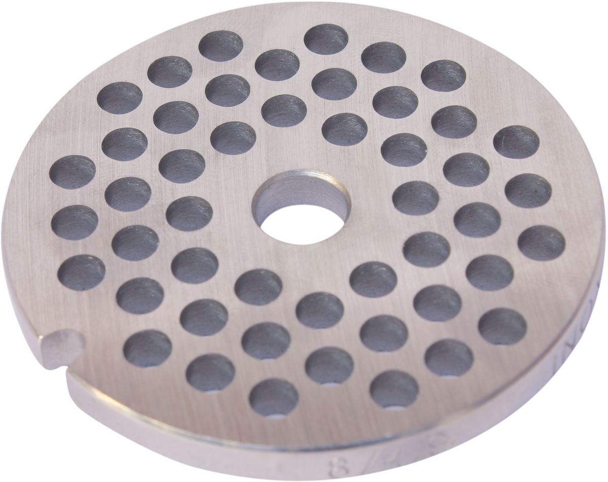 Euro Kitchen EUR-GR-5 Zelmer решетка для мясорубкиEUR-GR-5 ZelmerРешетка Euro Kitchen EUR-GR-5 предназначена для работы с электрическими мясорубками марки Zelmer. Она с легкостью заменит фирменную деталь, не уступив ей по качеству и сроку службы. Высокая производительность и долгий срок службы современных электрических и ручных мясорубок зависят, в первую очередь, от режущих механизмов и их выработки. Своевременная профилактика и замена режущих и вспомогательных элементов способствуют уменьшению нагрузки на узлы и другие механизмы, гарантируя долгую и качественную работу вашей мясорубки. Диаметр отверстий в решетке: 5 мм