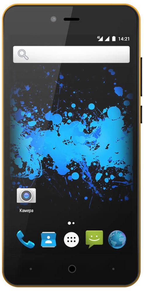 Highscreen Easy L, Yellow23541Простой и доступный смартфон Highscreen Easy L с хорошей батареей, отличным экраном, да еще и с поддержкой 4G/LTE. Что еще нужно для полного счастья?Четыре правильных цвета из которых ты точно выберешь свой. Матовый шероховатый корпус имеет прекрасную эргономику и сбалансированные размеры.Яркий и контрастный HD-экран, выполненный по технологии OnCell, обеспечивает естественную цветопередачу. Повышенная чувствительность дисплея поможет в динамичных играх и при наборе текста, когда требуется моментальный отклик и точное попадание.Highscreen Easy L работает на базе чистого Android Marshmallow, Highscreen преднамеренно не ставят дополнительные приложения и игры, чтобы не занимать лишнюю память и дать тебе свободу выбора.Ощути всю прелесть точной навигации, ты сможешь точно определять свое местоположение и быстро прокладывать маршруты из точки A в точку B.Телефон сертифицирован EAC и имеет русифицированный интерфейс меню и Руководство пользователя.