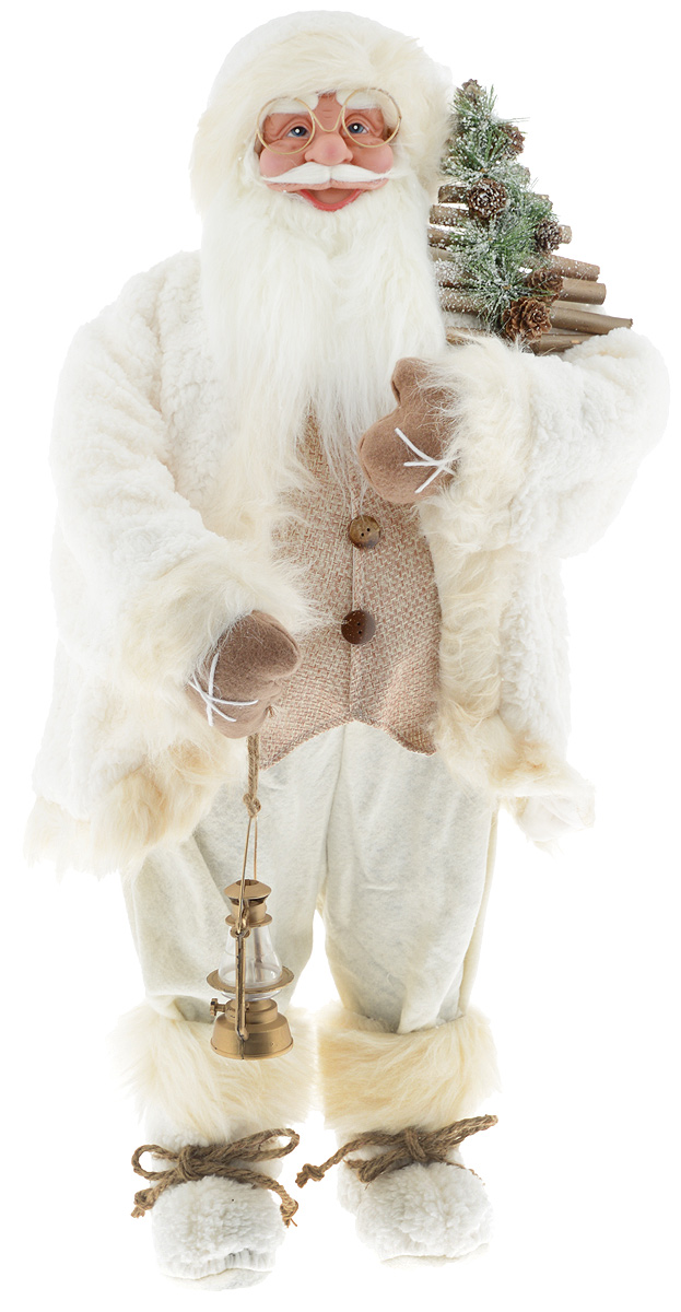 Фигурка новогодняя ESTRO Дед Мороз с лампой, цвет: белый, бежевый, высота 85 смC21-321085Декоративная фигурка Дед Мороз с лампой изготовлена из высококачественных материалов в оригинальном стиле. Фигурка выполнена в виде Деда Мороза с лампой.Уютнаяи милая интерьерная игрушка предназначена для взрослых и детей, для игр и украшения новогодней елки, да и просто, для создания праздничной атмосферыв интерьере! Фигурка прекрасно украсит ваш дом к празднику, а в остальные дни с ней с удовольствием будут играть дети. Оригинальный дизайн и красочное исполнение создадут праздничное настроение. Фигурка создана вручную, неповторима и оригинальна. Порадуйте своих друзей и близких этим замечательным подарком!
