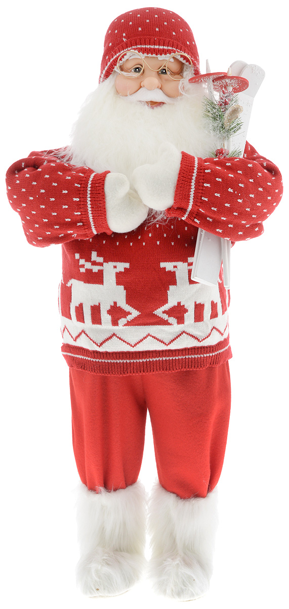 Фигурка новогодняя ESTRO Дед Мороз с лыжами, цвет: красный, белый, высота 85 смC21-321093Декоративная фигурка Дед Мороз с лыжами изготовлена из высококачественных материалов в оригинальном стиле. Фигурка выполнена в виде Деда Мороза с лыжами.Уютнаяи милая интерьерная игрушка предназначена для взрослых и детей, для игр и украшения новогодней елки, да и просто, для создания праздничной атмосферыв интерьере! Фигурка прекрасно украсит ваш дом к празднику, а в остальные дни с ней с удовольствием будут играть дети. Оригинальный дизайн и красочное исполнение создадут праздничное настроение. Фигурка создана вручную, неповторима и оригинальна. Порадуйте своих друзей и близких этим замечательным подарком!