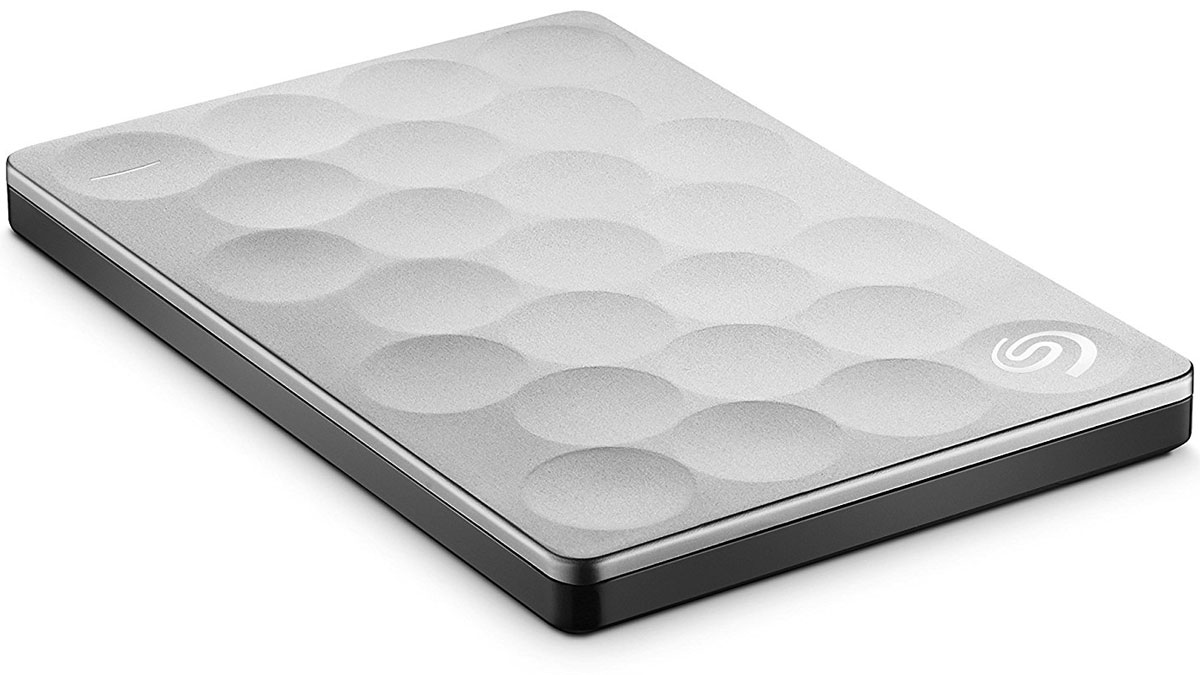 Seagate Backup Plus Ultra Slim 1TB USB 3.0, Platinum (STEH1000200) внешний жесткий диск