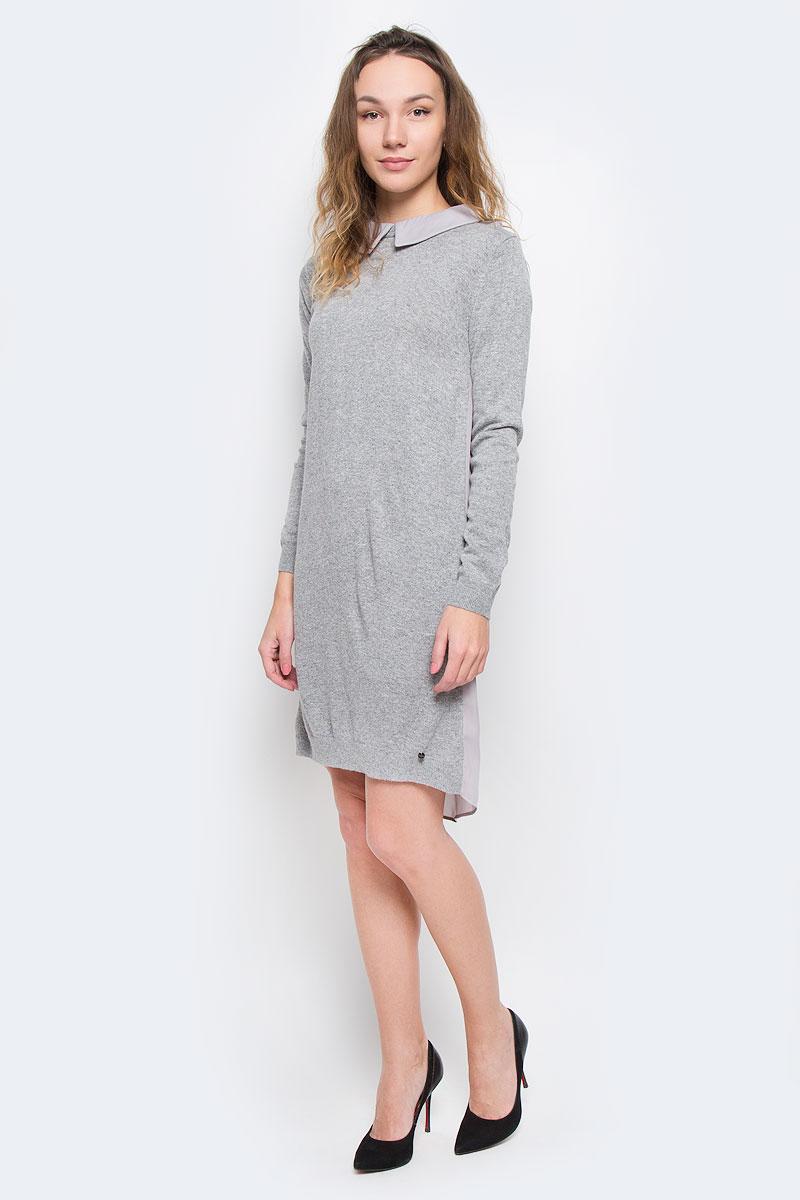 Платье Finn Flare, цвет: серый. W16-171110_205. Размер M (46) платье finn flare цвет серый синий черный w16 11030 101 размер l 48
