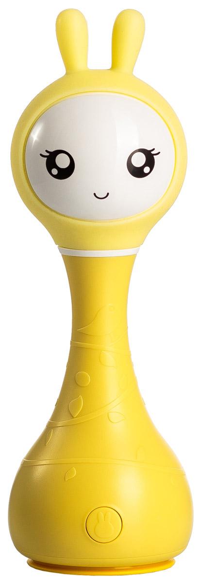 Alilo Музыкальная игрушка-ночник Зайка R1 цвет желтый60907Умный зайчик Alilo R1 очень сообразительный. Он может играть разную удивительную музыку, рассказывать сказки, светиться в темноте, а также познакомить вашего малыша с окружающими цветами, которые делают его жизнь яркой. Умный зайчик Alilo R1 – это ещё и погремушка. Потрясите его – он начнёт воспроизводить мелодию, нажмите «СТОП» через две секунды после начала проигрывания и снова потрясите – мелодия изменится.Прочная конструкция (упадёт - не сломается), без острых краёв Мягкие силиконовые ушки могут светиться 5 часов непрерывной игры без подзарядки! Зарядка через USB (кабель прилагается) Загруженный контент: 16 песен и 16 сказок на русском языке5 успокаивающих звуков для крепкого сна ребёнка (белый шум) 66 рингтонов для погремушки Яркая инструкция на русском и гарантия 30 дней Технология распознавания цвета: поставьте зайчика на предмет и слегка надавите. Ушки Умного зайчика засветятся цветом поверхности, а также он скажет вам, что это за цвет (на русском и английском языках). Внимание! Зайчик Alilo может определить только следующие цвета: красный, жёлтый, оранжевый, зелёный, синий, фиолетовый, белый, чёрный, серый.