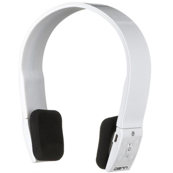 Denn DHB112, White Bluetooth-гарнитура - Наушники