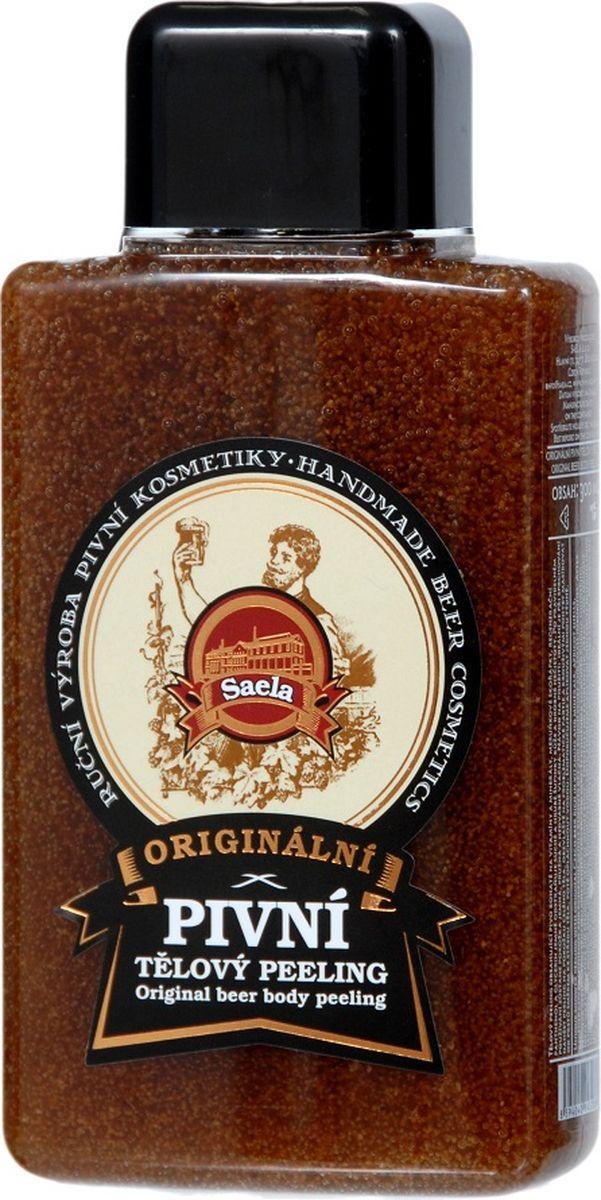 Оригинальный пилинг (скраб) для тела с пивом Saela, 300 мл.35-0056Пивной скраб для тела бережно удаляет ороговевшие клетки эпидермиса, неровности и загрязнения кожи, благодаря большому содержанию пива, богатого на витамины и минералы, косточкам абрикосов и регенеративному действию пантенола и глицерина. После регулярного применения скраб кожа станет нежной, эластичной и шелковистой