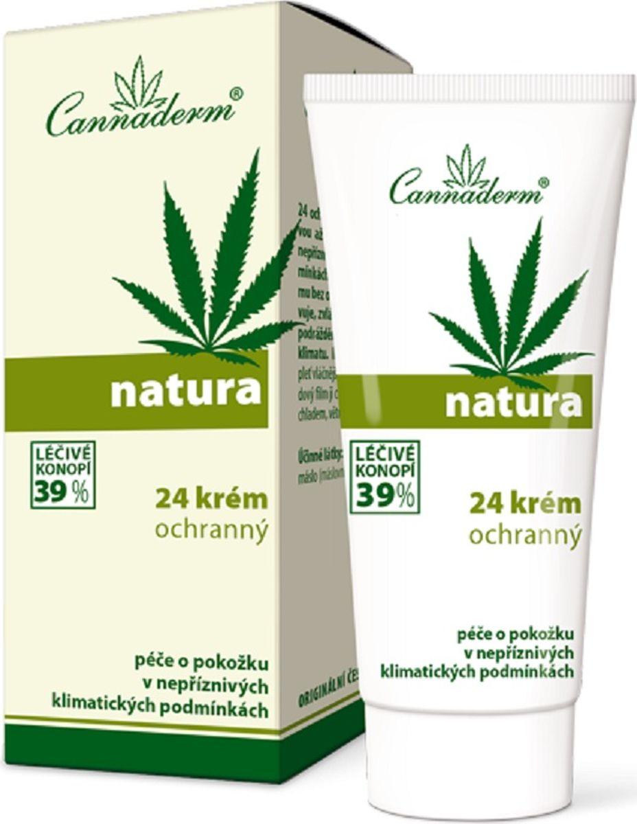 Защитный крем Natura 24 Cannaderm для ухода за кожей лица и тела в течение всего дня 50 г.K0596Natura 24 защитный крем с добавлением минерального УФ-фильтра для ухода за кожей в течение всего дня при неблагоприятных погодных условиях. Формула на натуральной основе без включения воды активно защищает кожу от УФ-лучей, высыхания и раздражения. Сразу после нанесения крема Natura 24 для ухода за кожей в течение всего дня Cannaderm кожа становится гладкой, мягкой, а образующийся липидный слой прекрасно защищает ее от непогоды, холода, ветра и влаги. Крем служит идеальной заменой дневному крему для ухода за незащищенными участками кожи. Не предназначен для загара!