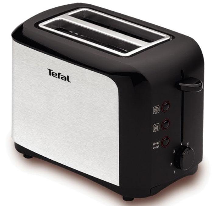 Tefal TT356131 тостерTT356131Тостер Tefal TT356131 представляет собой сочетание удобства, функциональности и элегантного внешнего вида. Его корпус сконструирован таким образом, чтобы не нагреваться при работе. Вы можете регулировать степень поджаривания хлеба (доступно 7 режимов) по вашему вкусу. Прибор также имеет функции подогрева и разморозки. Кнопка отмена поможет вовремя исправить сделанную спросонья ошибку. Ухаживать за тостером легко и приятно благодаря наличию поддона для крошек.